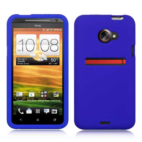 Blue Silicone Skin Cover for HTC EVO 4G LTE