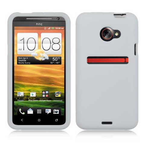 Frost White Silicone Skin Cover for HTC EVO 4G LTE