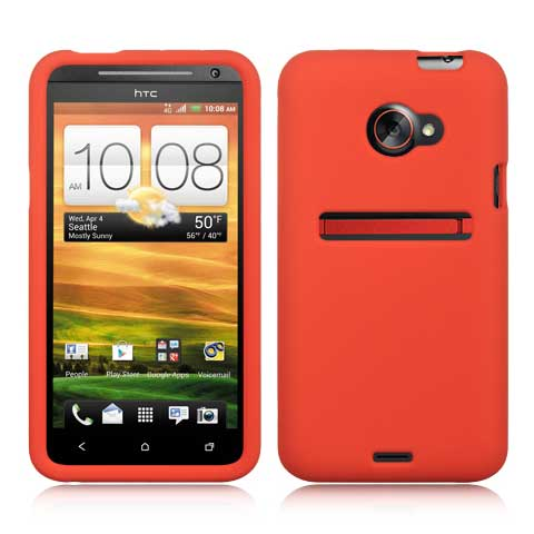 Red Silicone Skin Cover for HTC EVO 4G LTE