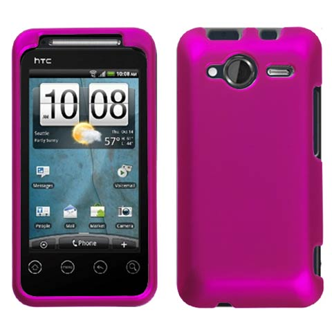Hot Pink Rubberized Hard Case for HTC EVO Shift 4G