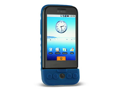 HTC G1 Silicone Skin Cover Case - Blue