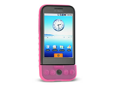 HTC G1 Silicone Skin Cover Case - Hot Pink