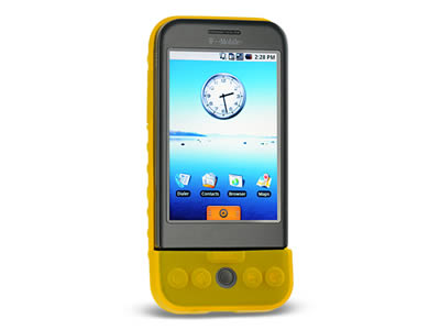 HTC G1 Silicone Skin Cover Case - Yellow