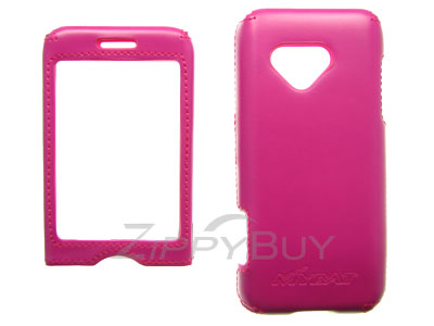 HTC G1 Faux Leather Hard Cover Case - Hot Pink