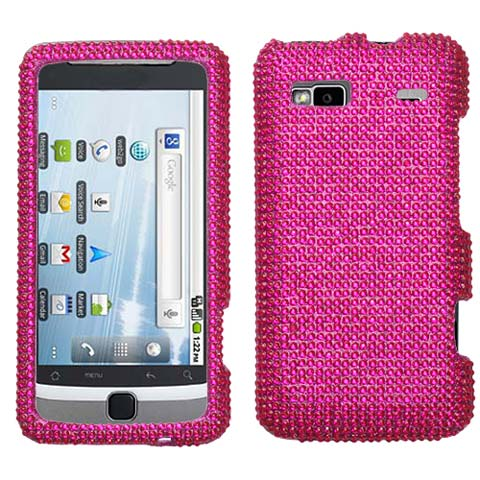 Hot Pink Crystal Rhinestones Bling Case for HTC G2
