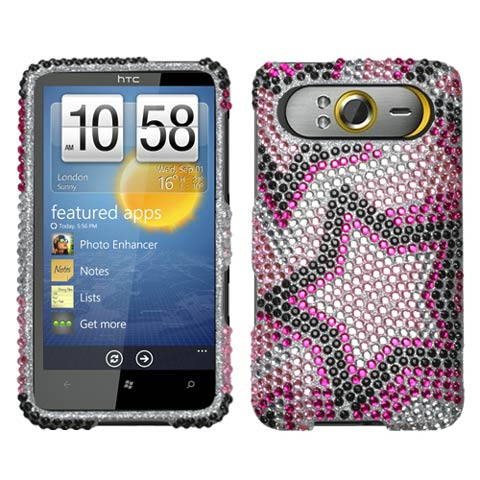 Superstar Crystal Rhinestones Bling Case for HTC HD7