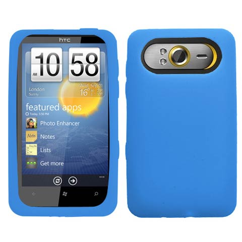 Blue Silicone Skin Cover for HTC HD7