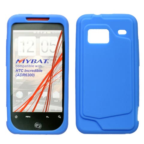 Blue Silicone Skin Cover for HTC Droid Incredible