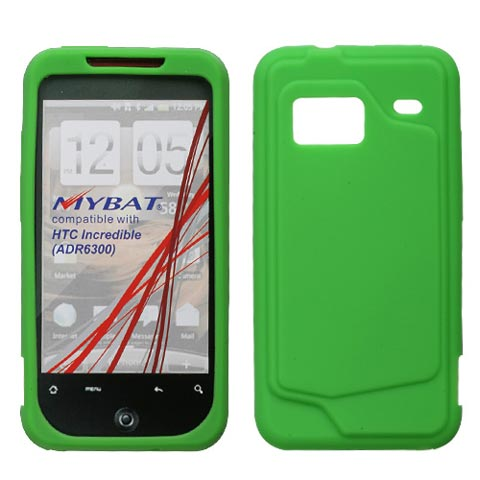 Green Silicone Skin Cover for HTC Droid Incredible