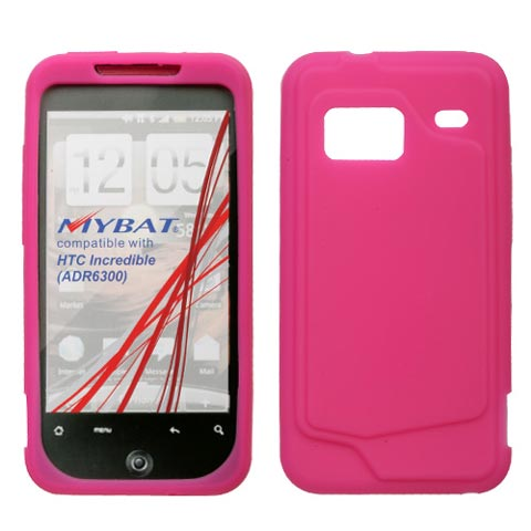 Hot Pink Silicone Skin Cover for HTC Droid Incredible