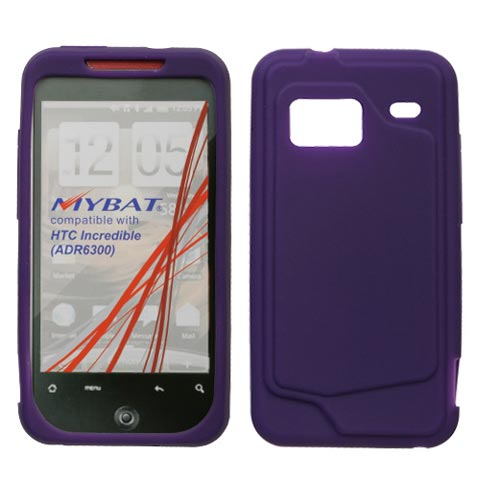 Purple Silicone Skin Cover for HTC Droid Incredible