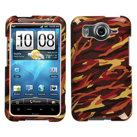 Brown Camouflage Hard Case for HTC Inspire 4G