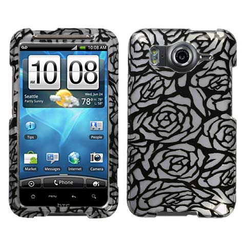 Silver Roses Hard Case for HTC Inspire 4G