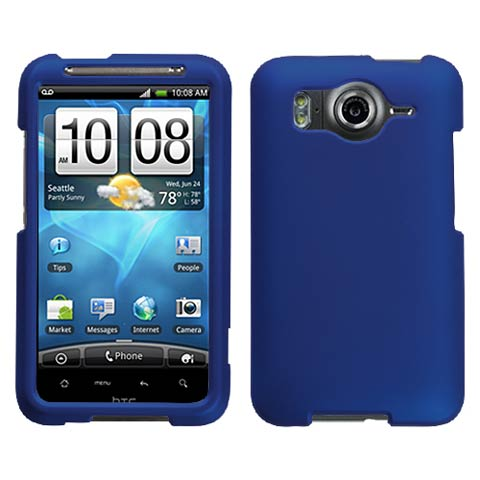 Blue Rubberized Hard Case for HTC Inspire 4G