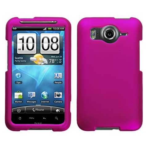 Hot Pink Rubberized Hard Case for HTC Inspire 4G