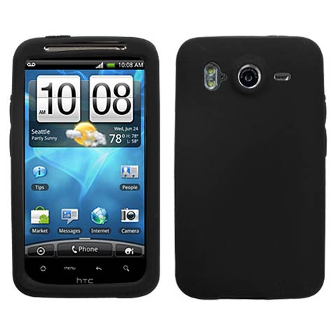 Black Silicone Skin Cover for HTC Inspire 4G