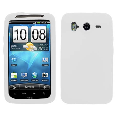 Frost White Silicone Skin Cover for HTC Inspire 4G