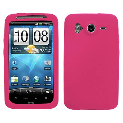 Hot Pink Silicone Skin Cover for HTC Inspire 4G