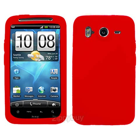 Red Silicone Skin Cover for HTC Inspire 4G
