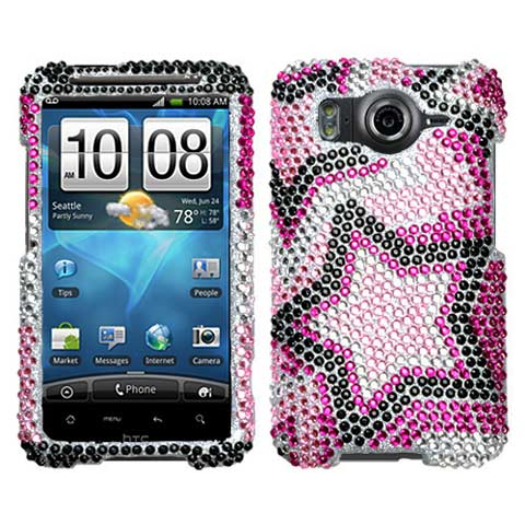Superstar Crystal Rhinestones Bling Case for HTC Inspire 4G