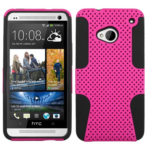 Pink Hybrid Astronoot Case for HTC One