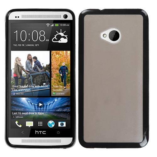 Black and Smoke Fusion Cover for HTC One