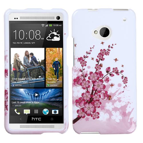 Pink Flowers Hard Case for HTC One