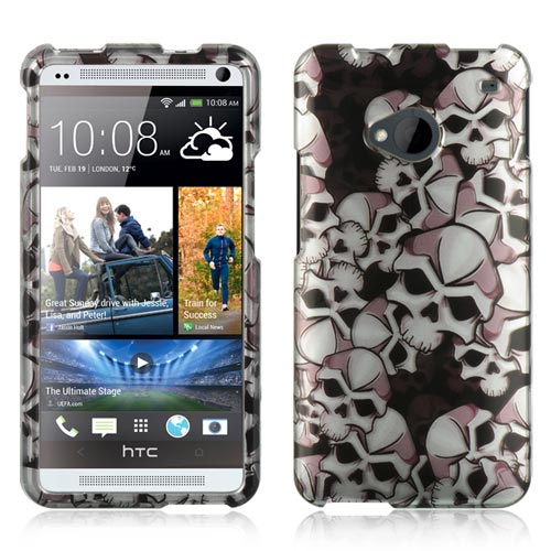 Silver Skulls Hard Case for HTC One