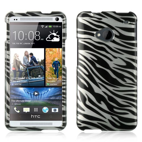 Silver Zebra Hard Case for HTC One