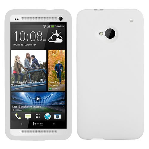 Frost White Silicone Skin Cover for HTC One