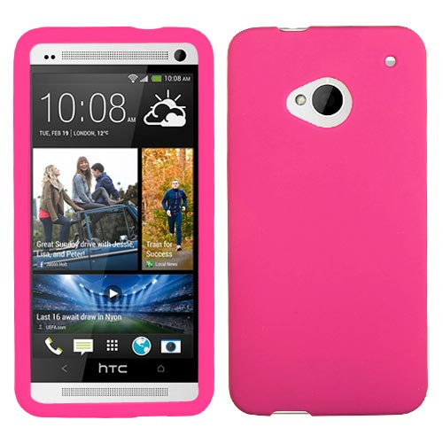 Hot Pink Silicone Skin Cover for HTC One