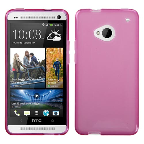 Hot Pink TPU Case for HTC One