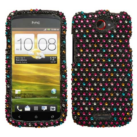 Sparkle Dots Crystal Rhinestones Bling Case for HTC One S