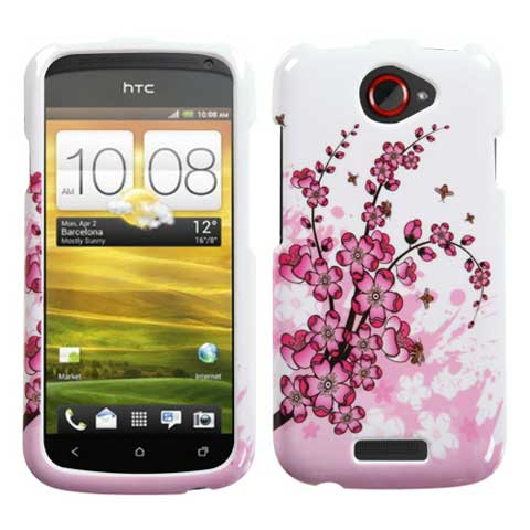 Pink Flowers Hard Case for HTC One S