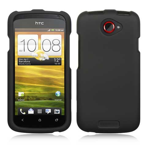 Black Rubberized Hard Case for HTC One S