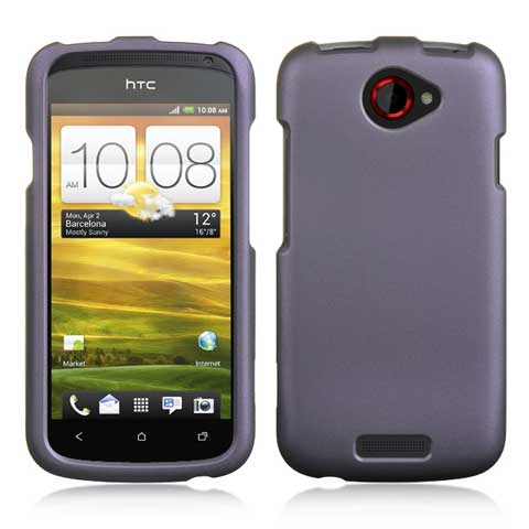 Purple Rubberized Hard Case for HTC One S