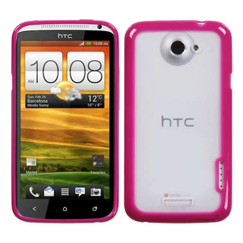 Pink and Frost Fusion Case for HTC One X