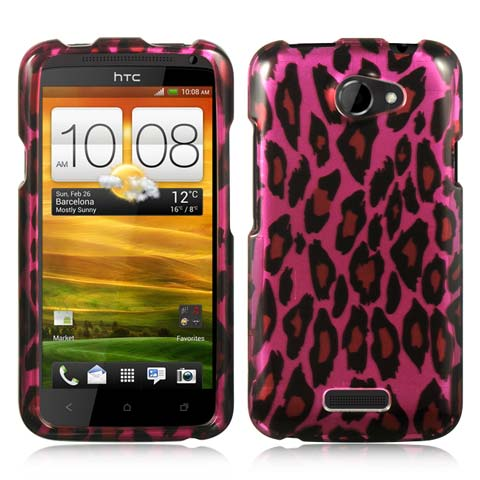Hot Pink Leopard Hard Case for HTC One X