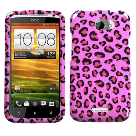 Pink Leopard Hard Case for HTC One X