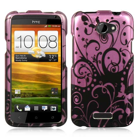 Purple Swirls Hard Case for HTC One X