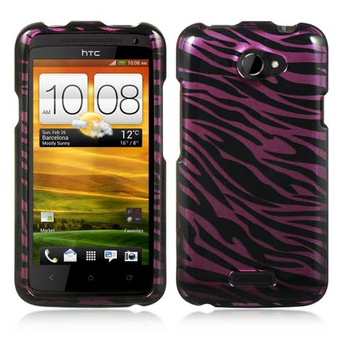 Purple Zebra Hard Case for HTC One X