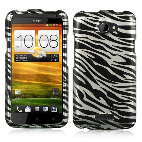 Silver Zebra Hard Case for HTC One X