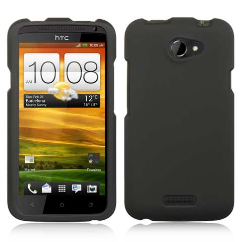 Black Rubberized Hard Case for HTC One X