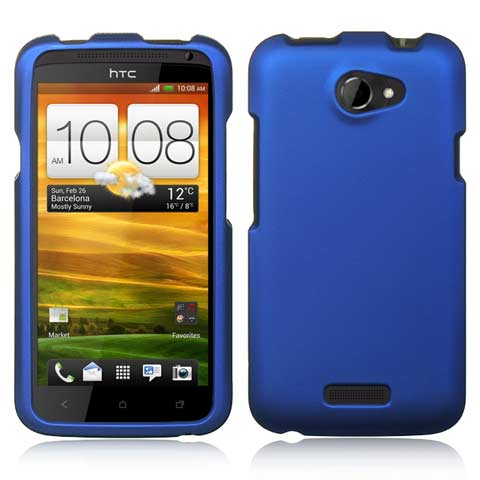 Blue Rubberized Hard Case for HTC One X