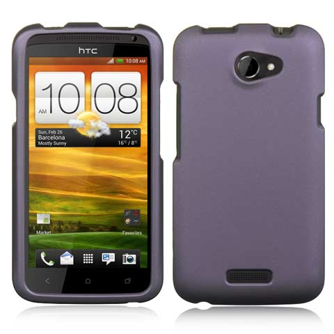 Purple Rubberized Hard Case for HTC One X