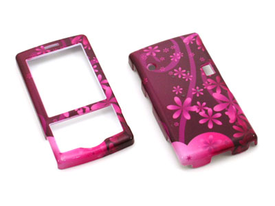 HTC Shadow Snap On Faceplate Case (Hot Pink Flowers)
