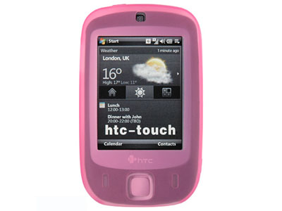 HTC Touch (CDMA) Silicone Skin Case (Hot Pink)