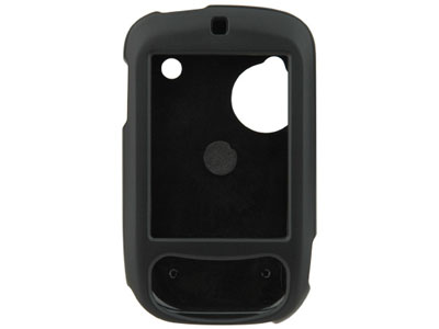 Rubberized Snap On Faceplate Case for HTC Touch (Black)
