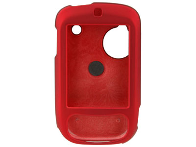 Rubberized Snap On Faceplate Case for HTC Touch (Red)