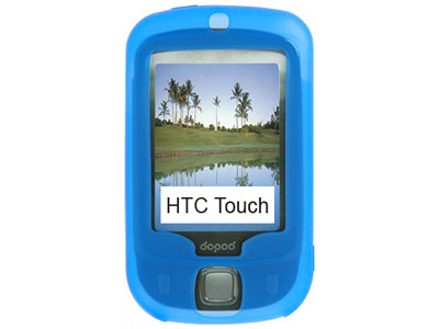 HTC Touch (GSM) Silicone Skin Case (Blue)